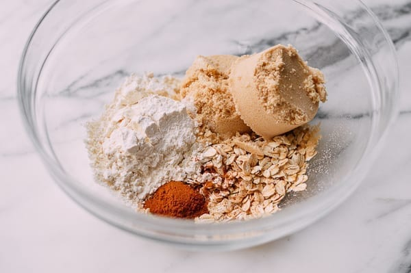 Ingredients for crumb topping, thewoksoflife.com
