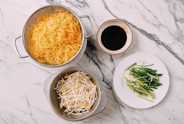Cantonese Soy Sauce Fried Noodles Ingredients, thewoksoflife.com