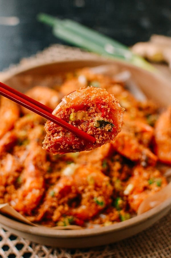 Chopsticks lifting shrimp, thewoksoflife.com