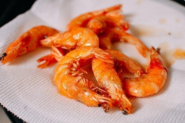 Shrimp after first fry, thewoksoflife.com
