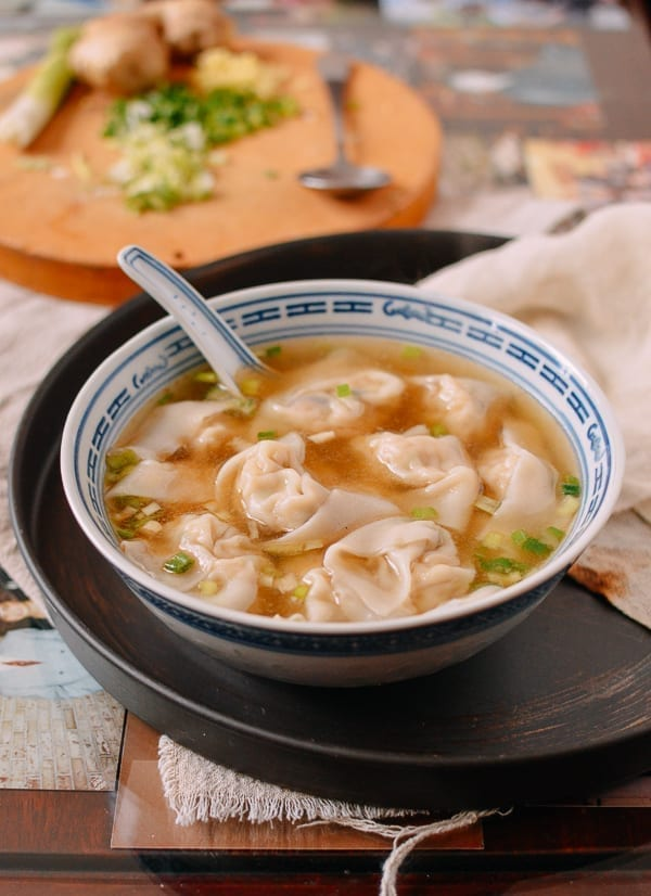 Mom's Chicken Wonton Soup, thewoksoflife.com
