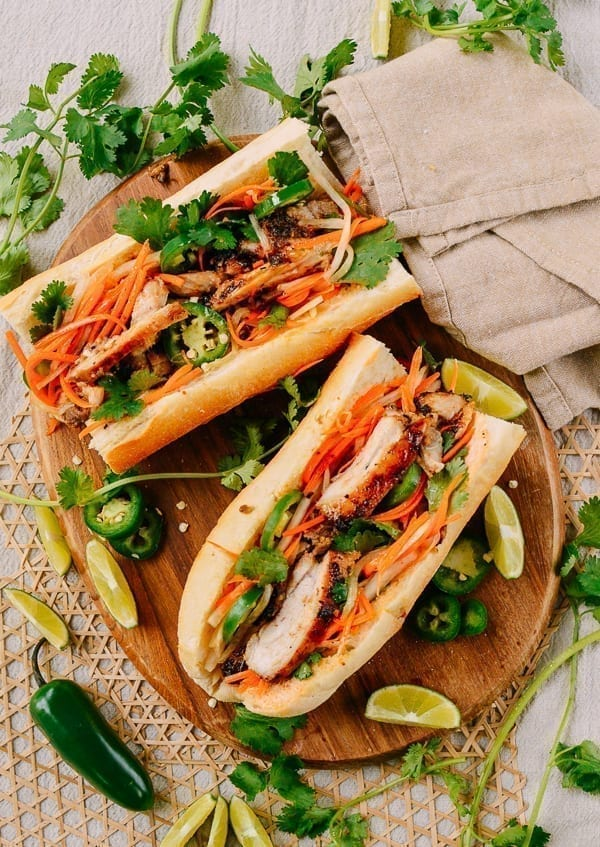 Lemongrass Chicken Banh Mi, thewoksoflife.com