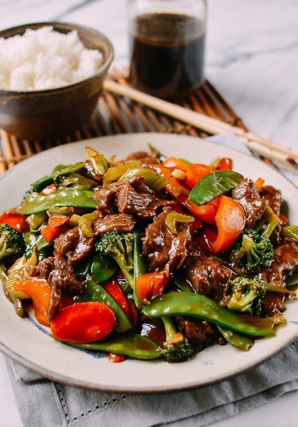 Beef and Mixed Vegetable Stir-fry made with stir-fry sauce, thewoksoflife.com