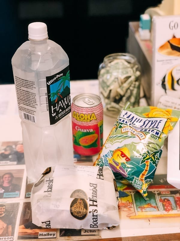 Hawaii water and snacks, thewoksoflfie.com