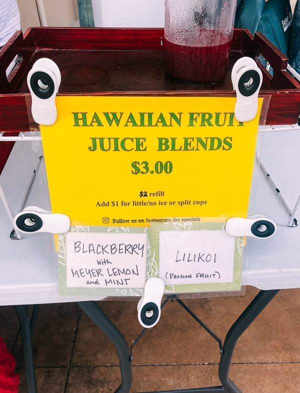 Honolulu Farmer's Market Juice, thewoksoflife.com