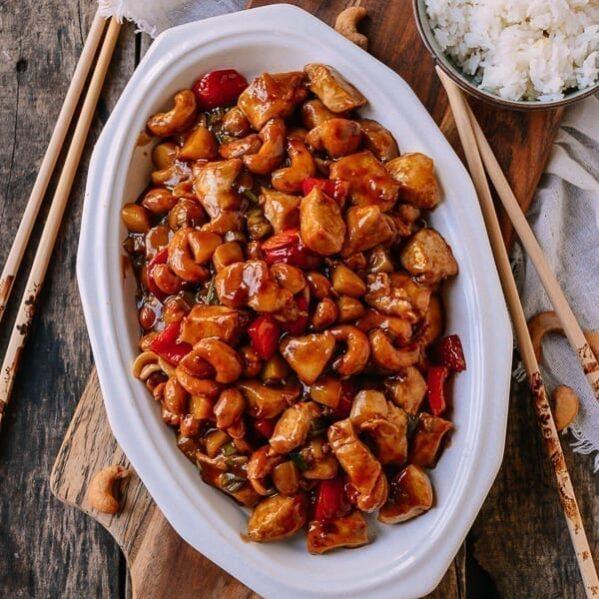 Cashew chicken, thewoksoflife.com