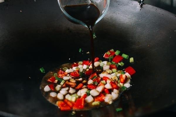 Adding sauce mixture, thewoksoflife.com