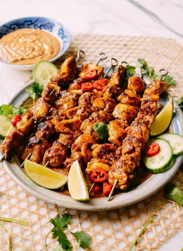 Thai Chicken Satay, thewoksoflife.com