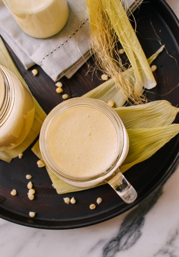 Corn and milk smoothie, thewoksoflife.com