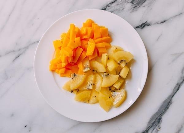 Diced Mango and Kiwi, thewoksoflife.com