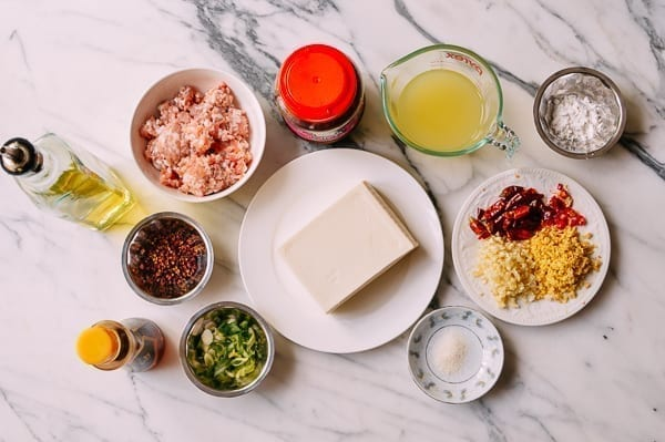Mapo Tofu Ingredients, thewoksoflife.com