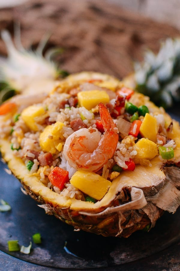 Pineapple fried rice, thewoksoflife.com