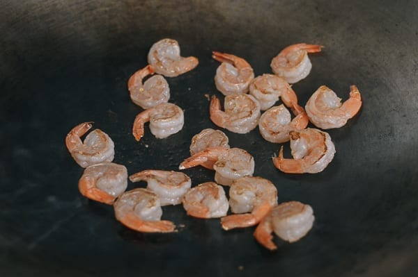 Pre-cooking shrimp for fried rice, thewoksoflife.com