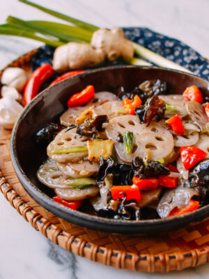 Lotus Root Stir-fry, thewoksoflife.com