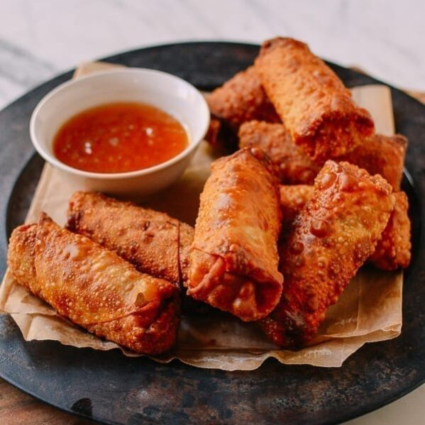 Vegetable Egg Rolls, thewoksoflife.com