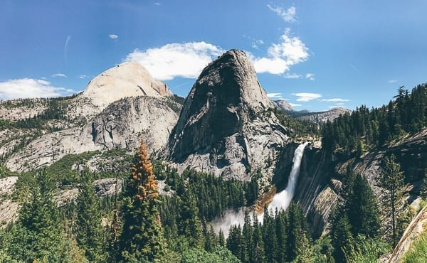 View of Nevada Fall from John Muir Trail, thewoksoflife.com