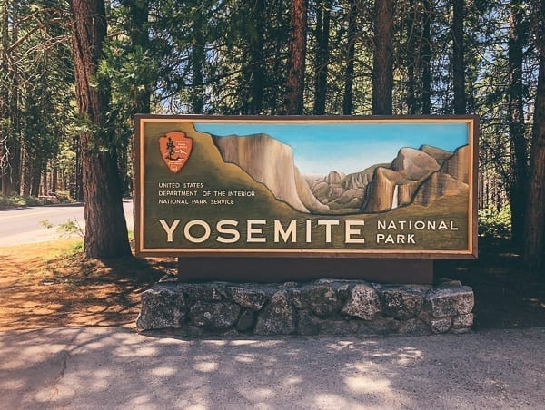 Yosemite National Park Entrance Sign, thewoksoflife.com