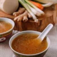 Asian vegetable stock in Chinese bowl, thewoksoflife.com