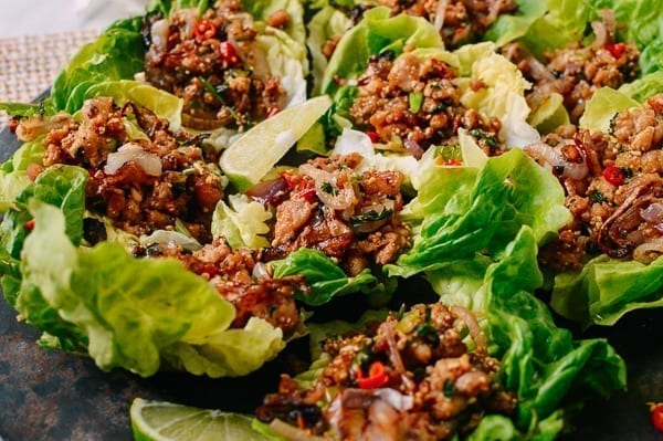 Chicken larb, thewoksoflife.com