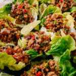 Chicken larb in lettuce cups, thewoksoflife.com