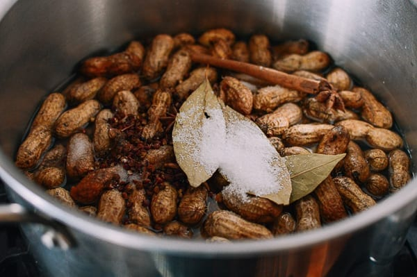 Adding aromatics to boiled peanuts, thewoksoflife.com