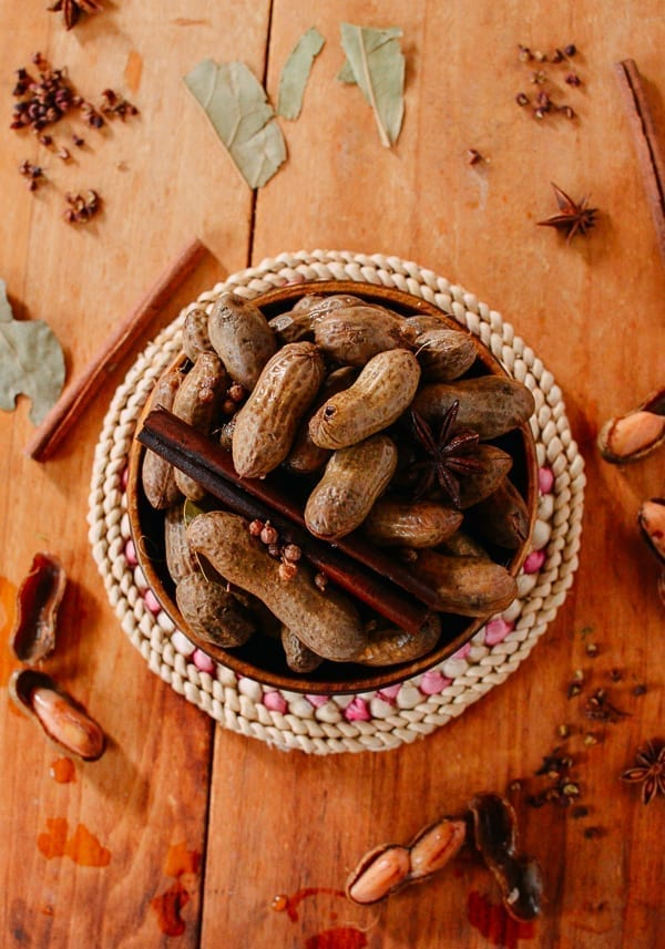 Spiced boiled peanuts, thewoksoflife.com