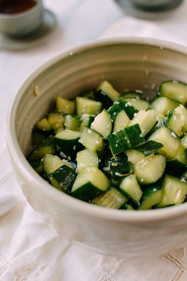 Chinese cucumber salad, thewoksoflife.com