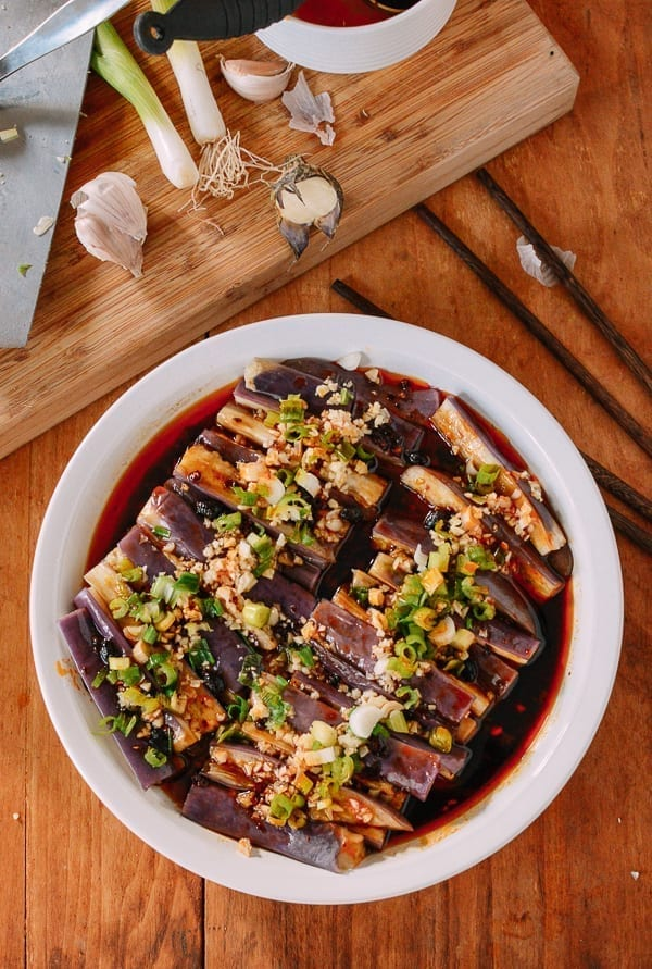 Steamed Chinese Eggplant with Lao Gan Ma, thewoksoflife.com