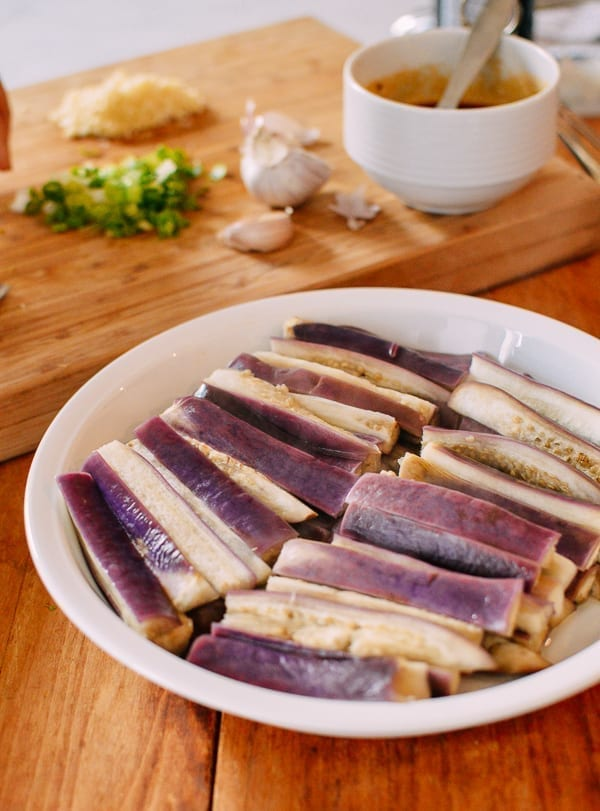 Steamed eggplant, thewoksoflife.com