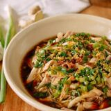 Easy Poached Chicken with Scallion Ginger Sauce, thewoksoflife.com