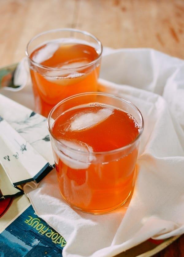 Hawthorn Iced Tea, thewoksoflife.com