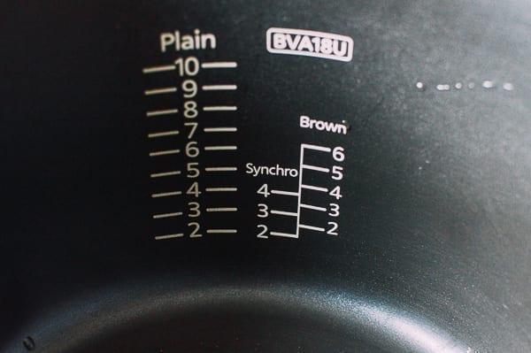 Water lines in rice cooker pot, thewoksoflife.com