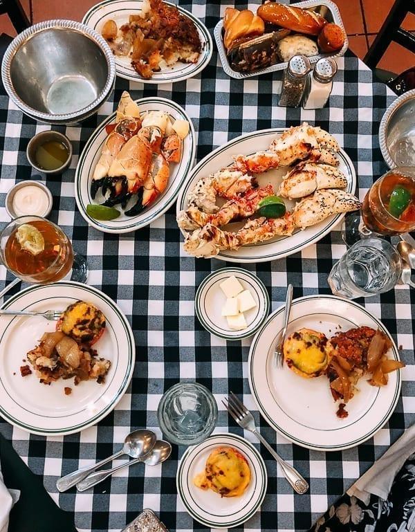 Meal at Joe's Stone Crab in Miami, thewoksoflife.com