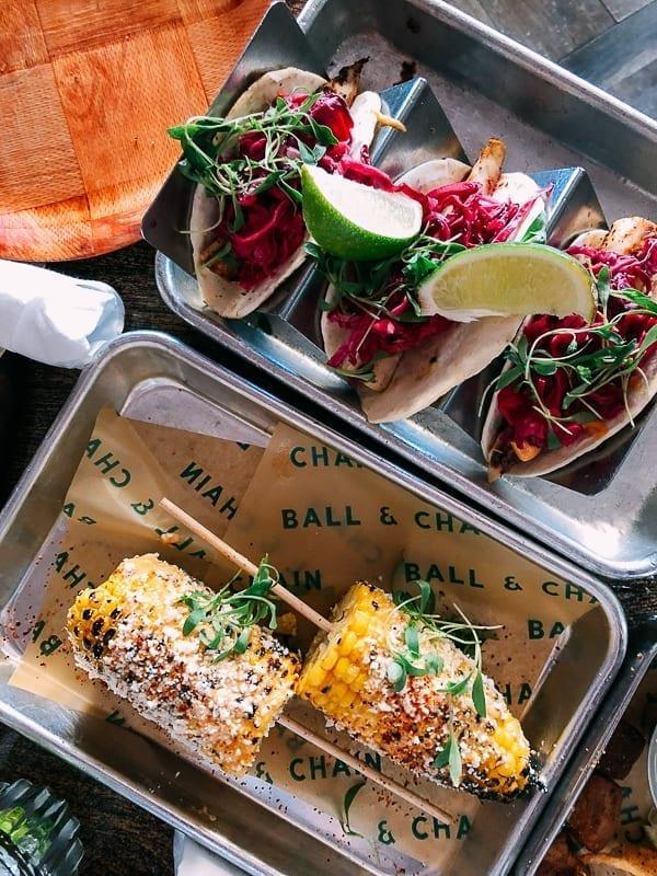 Corn and Fish Tacos, thewoksoflife.com