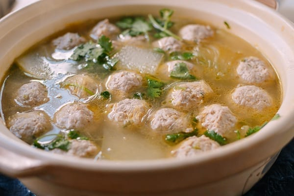 Winter Melon Soup with Meatballs, thewoksoflife.com