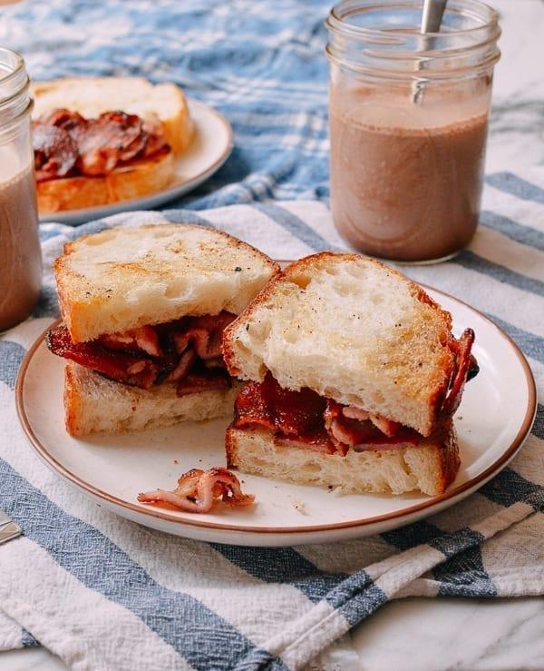 Wok Bacon Sandwiches, thewoksoflife.com