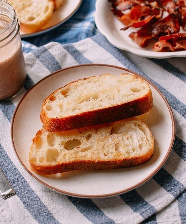Toasted Sourdough Bread, thewoksoflife.com