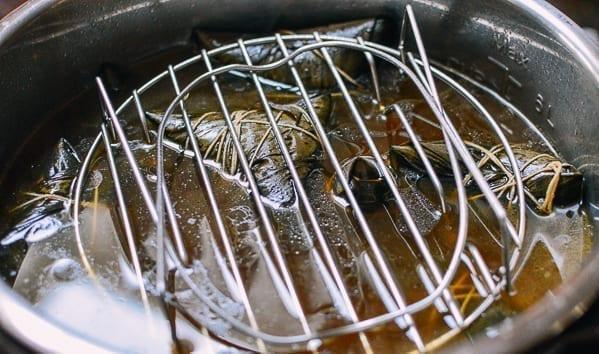 Cooked zongzi in Instant Pot, thewoksoflife.com