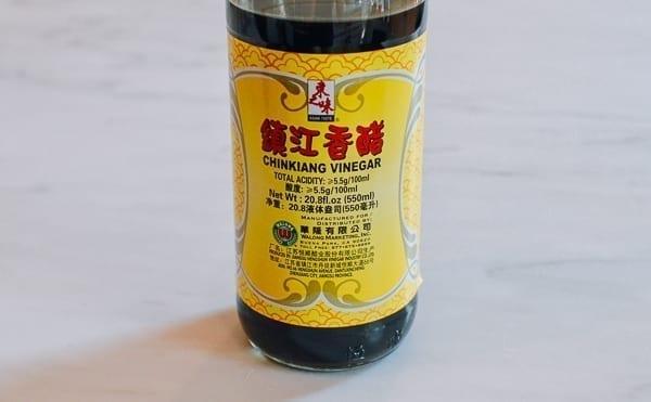 Chinkiang vinegar label, thewoksoflife.com