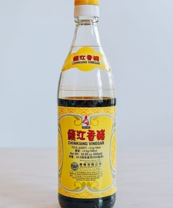 Bottle of Chinese black vinegar, thewoksoflife.com