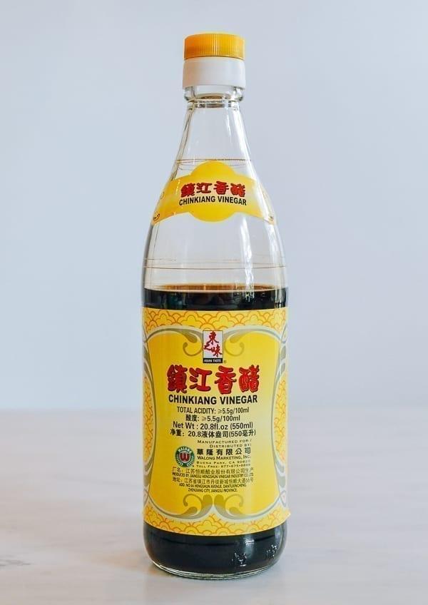 Bottle of Chinese black vinegar, thewoksoflife.com