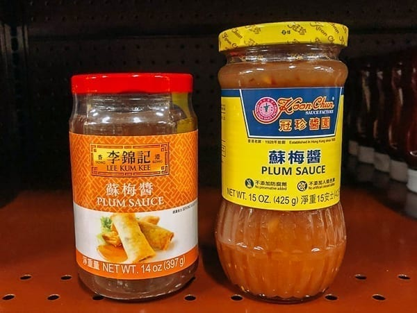 Plum sauce on store shelf, thewoksoflife.com