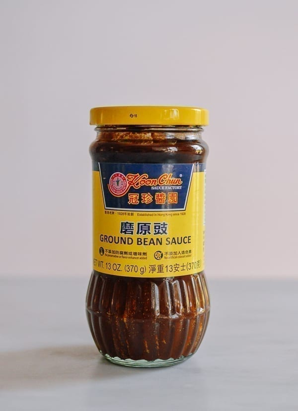 Jar of ground bean sauce, thewoksoflife.com
