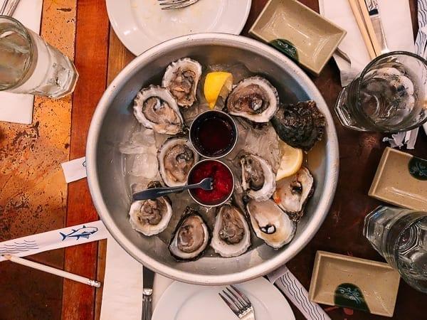 Oysters on the half shell, thewoksoflife.com