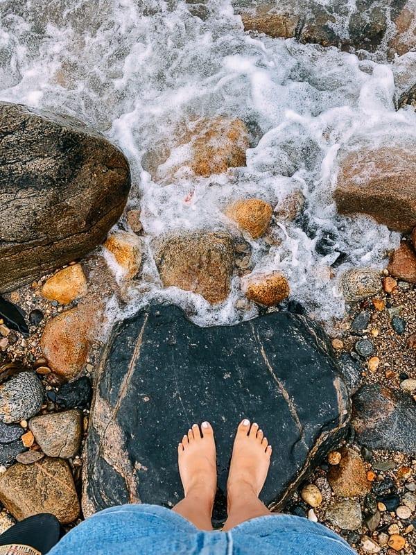 Feet on a Rocky Beach, thewoksoflife.com