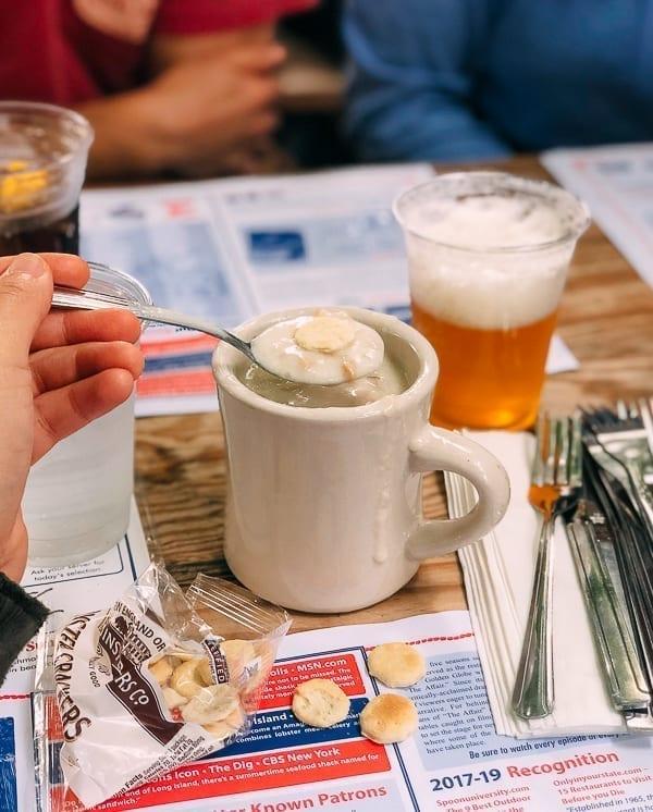 Cup of New England Clam Chowder, thewoksoflife.com