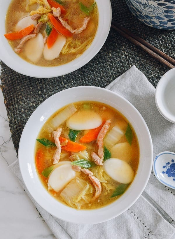 Chinese Rice Cake Soup, thewoksoflife.com