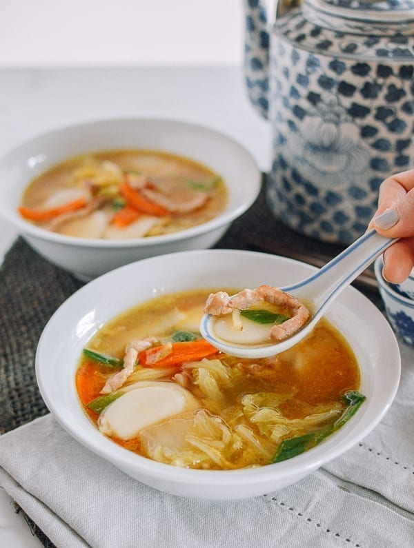 Spoonful of Chinese Rice Cake Soup, thewoksoflife.com
