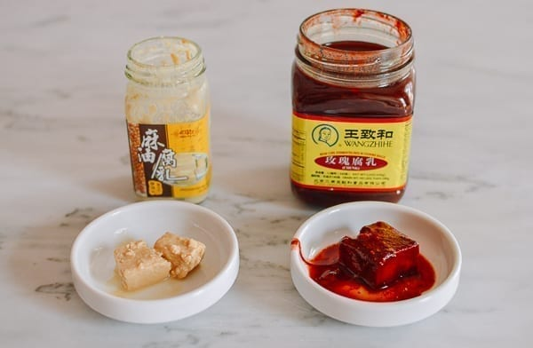 White and red fermented bean curd, thewoksoflife.com