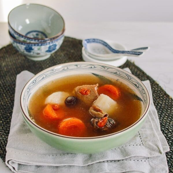 Cantonese Pork, Carrot & Chinese Yam Soup, thewoksoflife.com